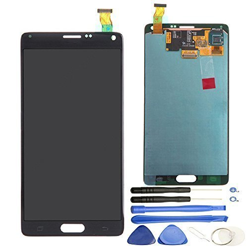 Comfine Original OEM Replacement for Samsung Galaxy Note 4 LCD Display Screen + Touch Digitizer + Stylus Sensor Assembly, for N910A N910P N910T N910V N910R4 N910W8, Repair Tools + Samsung Logo, Black