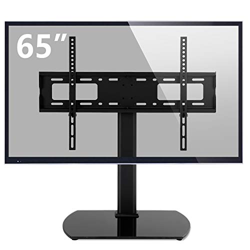 (Rfiver Universal Swivel Tabletop TV Stand with Mount for 32 37 40 42 43 47 50 55 60 65 inch LED,LCD and Plasma Flat Screen TVs with Height Adjustment VESA 600x400mm, UT2001)