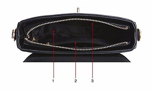 La mujer elegante Bolso bandolera de cuero salvaje simple paquete diagonal, 18 * 8 * 15cm