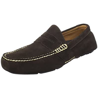 Polo Ralph Lauren Men's Telly Penny Loafer, Dark Brown Suede, 11 D US