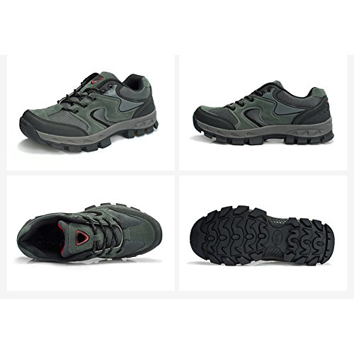 CHT De Otoño E Invierno Amantes Al Aire Libre De Senderismo Zapatos De Los Hombres De Montaña De Tamaño Multi-código Rojo Verde Marrón Gris Opcional gray-Men-42