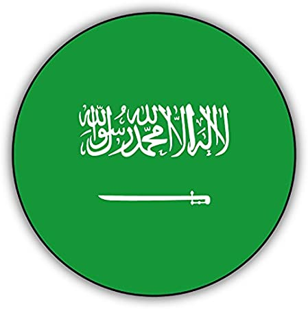 Set of 4x sticker vinyl car bumper decal outdoor moto world flag saudi arabia