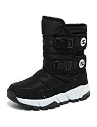 coollight Boy Girl Waterproof Boot Warm Fashion Western Boots Martin Boots