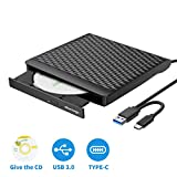 External DVD/CD Drive with the blank CD Burned, Portable External Optical Drive