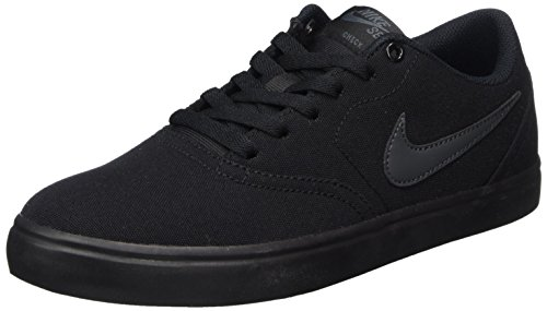 Nike Men's SB Check Solarsoft Canvas Skate Shoe Black/Anthracite 13