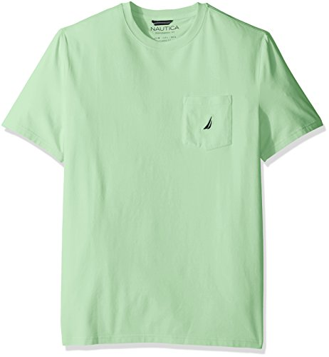 Nautica Men's Solid Crew Neck Short Sleeve Pocket T-Shirt,  Patina Green,  XX-Large