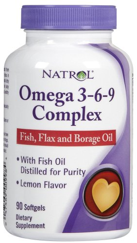 Natrol Omega 3 3-6-9 Complex 90 SFGL (pack of 3)
