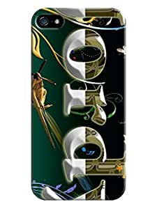 LarryToliver Popular Creative 3D Text Typography Designs iphone 5/5s Plastic Hard Cover Case #6