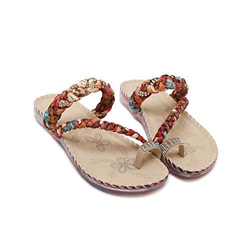 Sandales Noir de Plage Lacitena Sandals Bohemian ExYXTwqOnA