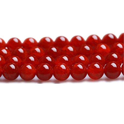 - 8mm Round Red Carnelian Loose Beads 48PCS Per Bag for Jewelry Making DIY Bracelet Necklace Earrings 1 Strand 15