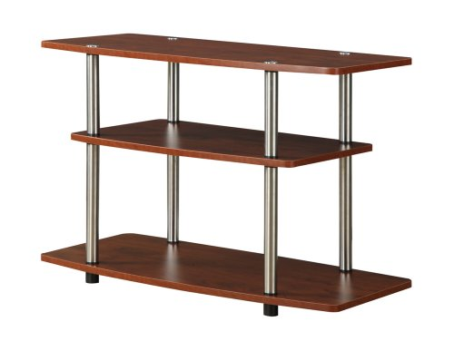Convenience Concepts Designs2Go 3-Tier TV Stand for Flat Panel Television Up to 32-Inch or 80-Pound, Cherry -