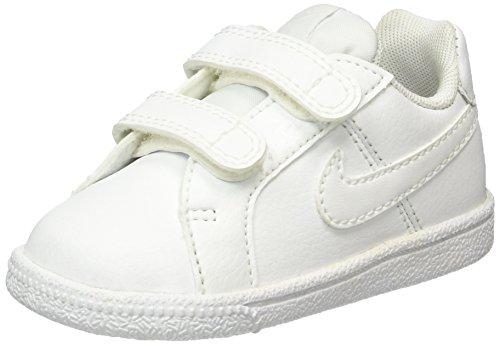 Nike Unisex Baby Court Royale (TDV) Lauflernschuhe, Weiß, 19.5 EU Elfenbein (White/white)
