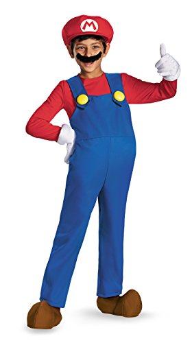 Mario and Luigi Child Costume Mario (red & blue) - Small