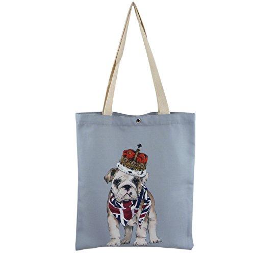 Coton Shopping/sac fourre-tout pour femme London Uk Royal Nelson Bulldog anglais