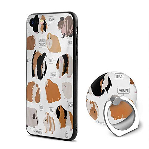 Guinea Pig iPhone 6/iPhone 6s Cases,Infographic Design Classification for Types of Rodent Breeds Sand Brown Amber and Ginger,Design Mobile Phone Shell Ring -