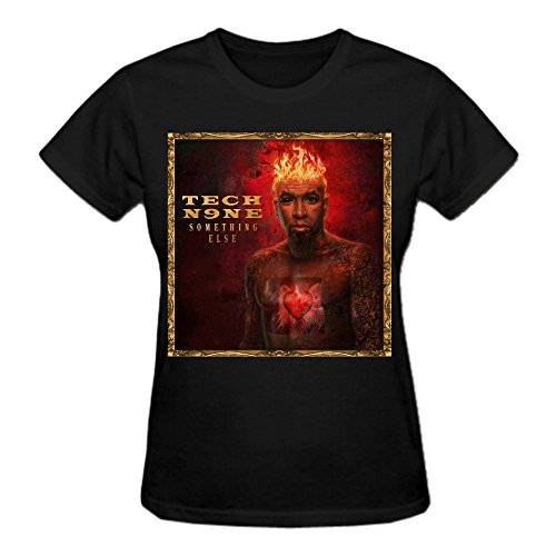 Tech N9ne Something Else 100% Cotton Vintage T-Shirts For Women O Neck Black