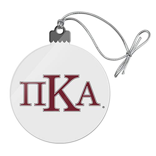 GRAPHICS & MORE Pi Kappa Alpha Fraternity Greek Heritage Garnet Black Outline Acrylic Christmas Tree Holiday Ornament