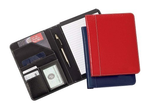 Jr. Size Leather School Meetingmemo Pad Holder - Navy