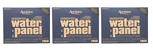 Aprilaire 12 Water Panel 3 Pack for Humidifier Models 112, 224, 225, 440, 445, 448