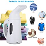 Portable Garment Steamer   850W Handheld Mini Clothing Fabric Steamer for Home and Travel Garments Wrinkle Removal Cleaner (from USA, White)