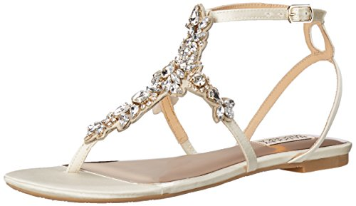 Badgley Mischka Women's Cara Dress Sandal, Ivory, 8.5 M US - Ivory Dress Sandals