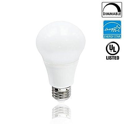 Luxrite LR21089 10-Watt Dimmable LED A19 Bulb, 60-Watt Equivalent, 5000K Bright White, 800 Lumens, 300° Omni Directional, Medium Screw Base (E26), Energy Star-Qualified, UL-Listed, 1-Pack