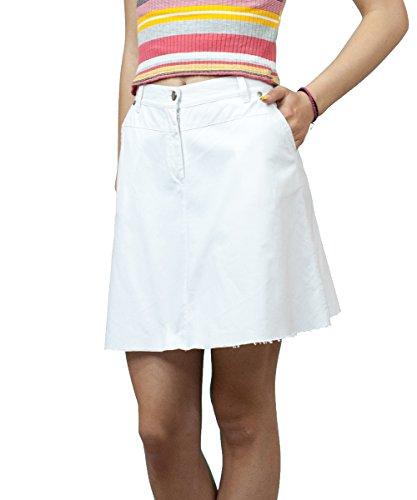 Dcontracts Boutique Fashion Longueur Mini Blanc Denim vase Jupe EU 36 38 40 42 44 46 48 50