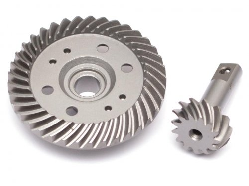 Boom Racing #BR271099 Steel Heavy Duty Helical Spiral Differential Ring & Pinion Gear (37T/13T) for All Traxxas 4WD 4X4 for Traxxas Slash 4X4 by Boom (Diff Pinion)