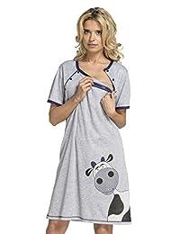 Happy Mama.Womens Maternity Nursing Nightdress Breastfeeding Shirt Gown.219p