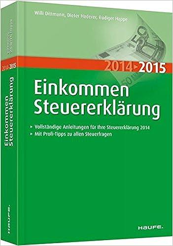 Cover des Buchs: Einkommensteuererklärung 2014/2015 (Haufe Steuerratgeber)