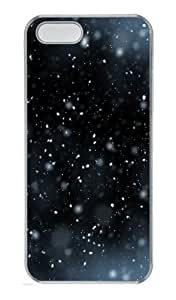 iPhone 5S Case Cover - Snow Flying PC Transparent Case for iPhone 5 and iPhone 5S