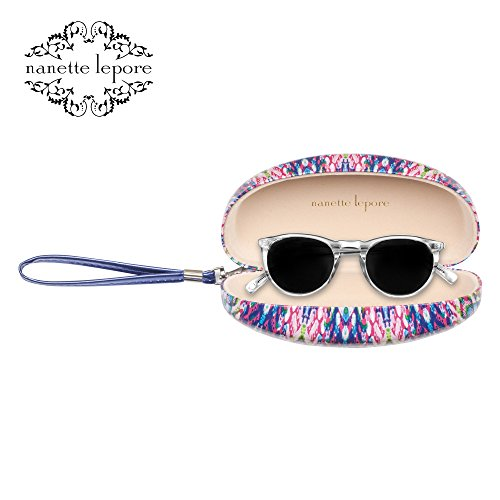 Nanette Lepore Hard Clam Shell Sunglasses Eyewear Case with Strap, - By Sunglasses Lepore Nanette