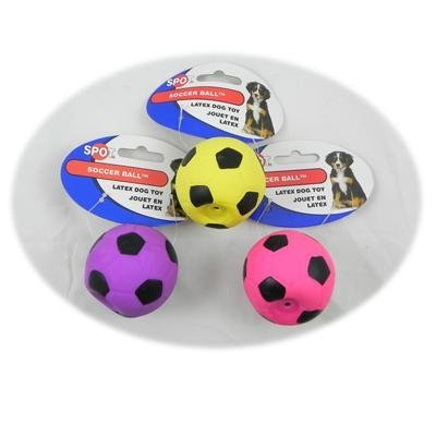 Latex Soccer Ball Dog Toy 2 inch 48 pack
