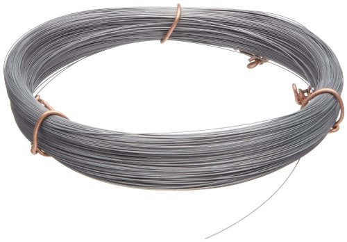 High Carbon Steel Wire, #2B (Smooth) Finish, Full Hard Temper, ASTM A228, 0.043 Diameter, 50 Length, Precision Tolerance