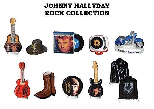 FABOLAND Johnny HALLIDAY Rock Collection - DV2385-10 Sujets Porcelaine pour Epiphanie - Galette des Rois