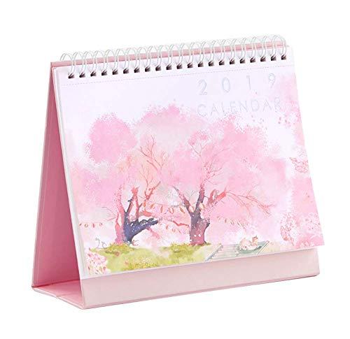 2019 Desk Calendar Chinese Holiday Monthly Desk Calendar Daily Planner, 1 Piece (E)