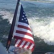 "SEACHOICE 18/"" FLAG POLE Varnished Mahogany Wood SCP 77021"
