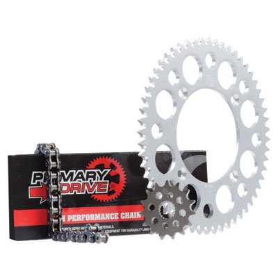 - Primary Drive HEAVY DUTY Chain and Sprocket Kit - 428 MC Chain - Silver Rear Aluminum Sprocket - Front Steel Sprocket - Stock or Custom Sizes - Fits: SUZUKI RM85 2002-2019