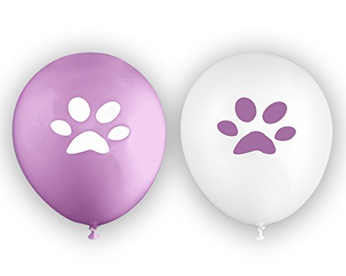Paw Print Balloons in a Bag (1 Pack of 25 Balloons)