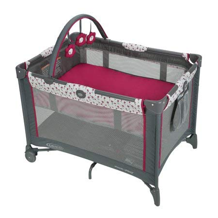 Amazon.com : Graco Pack n Play On The Go Playard with Bassinet, Amory Bundle with Playard Sheets, Neutral, 2 Pack : Baby
