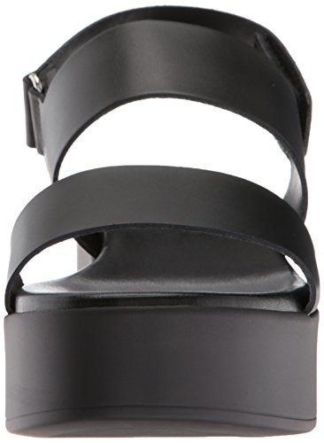 Steve Madden Women's Rachel Wedge Sandal Black Leather cheap sale prices kcptR4k9p