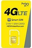 アメリカSIM h2o Wireless MONTHLY30ドル 初月料金コミコミパック LTE通信2GB/通話/テキスト/データ/国際通話も全部コミコミ【長期用】
