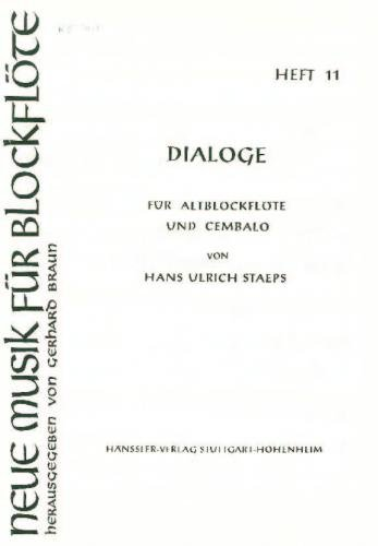Dialoge - New Music for Recorder Book 11 (Treble Recorder and Cembalo)