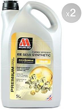 Millers aceites nanodrive EE 10 W-40 Aceite de motor Semi sintético – 2 x 5 litros