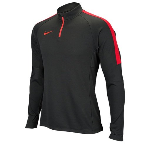 NIKE Women's Squad Midlayer Soccer Pullover Top, Black/Orange, Small, 724874 060