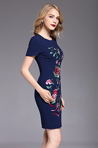 Fit Slim Gowns Scoop Short Evening Womens Neck Sleeve Formal Dresses cotyledon ZzSxCqn