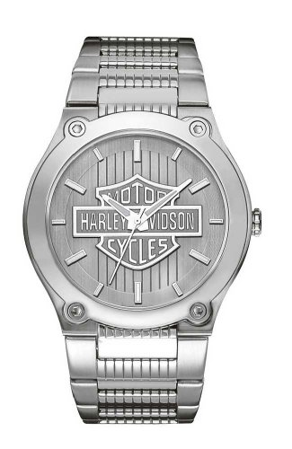 Harley-Davidson Men's 76A134 Analog Quartz Silver Stainless Steel Watch