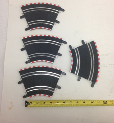 (SCX 1/43 Compact (4) Short Curve Track Pieces 4 inches)