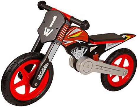 WOOMAX - Bici sin pedales en madera Sport Bike Roja 12