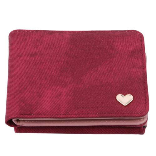 Fashionable Leather Clutch Mini Wallet Card Holder Purse Handbag Beauty Durable (Color - Red) ()